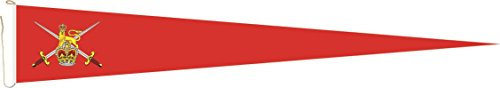 Haute Qualité pour U24 Long Fanion Royal Army Drapeau britannique 250 x 40 cm