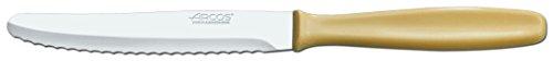 Arcos Couteaux de Table - Couteau de Table - Lame Acier Inoxydable Nitrum 125 mm - Manche Polypropylène Couleur Brun