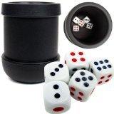 Markenzeichen Poker schwarz Heavy Duty Würfelbecher mit 5Würfel (Speicher-würfel-set)