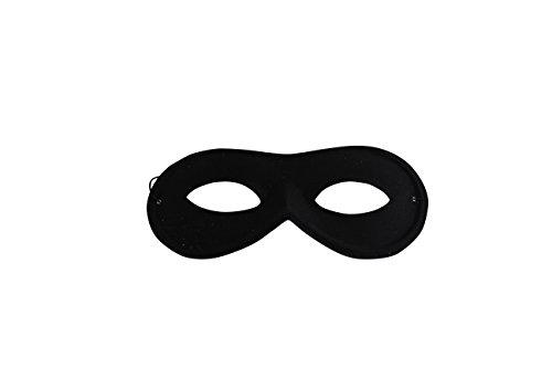Kostüm Gauner - Panzerknacker Maske Stoffbrille schwarz - Kostüm für Erwachsene & Kinder - perfekt für Fasching, Karneval & Cosplay - Universal Damen Herren