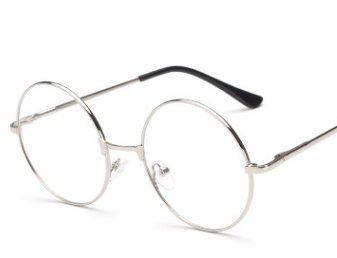 danapp Retro Rund Flach Spiegel Metall Brillen Rahmen Harajuku Herren Frauen Deko Rahmen Spring Beine