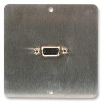 WALLPLATE, VGA, BRUSHED STEEL AV18370 By Best Price Square Vga-steel Wall Plate