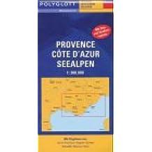 Polyglott Reisekarten, Provence, Cote d' Azur, Seealpen