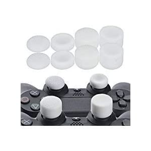 YoRHa Professionelle Aufsätze Daumengriffe Thumb Grips Thumbstick Joystick Cap Cover (Weiß) Extra Hoch 8 Stück Pack für PS4, Switch PRO, PS3, Xbox 360, Wii U Tablet, PS2 Controller