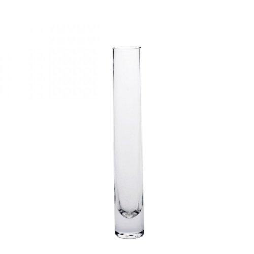 Glasvase Vase Glas Blumenvase Tischvase gerade schlank 26 cm