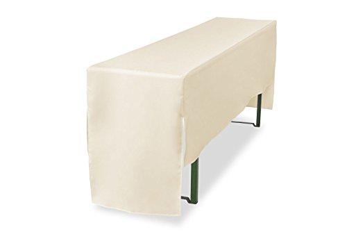 Biertischhusse halblang für Bierzelttischhusse Premium Pro (nur Tisch) 220 cm (Creme, Tischbreite:...