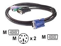 APC KVM PS/2 Kabel High Density15 auf High Density15 (VGA) 0,9m -