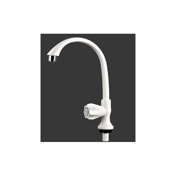 3G Decor Swan Neck Design Tap for Sink/Foam Flow Faucets for Wash Basin - White.
