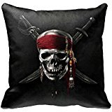 Pirates of the Caribbean Cool Throw Pillow Cover Soft Cotton Polyester standard Pillo wcase Cover 18 x 18 Home Decorative