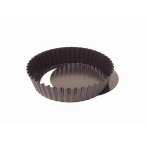 Vogue antiadhésive profonde cannelée quiche Tin 3x 10cm en acier au carbone Moule à gâteau Moule à plateau