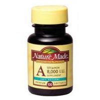 Nature Made Vitamin A, 8000 Iu, Softgels, 100 Ct. by Nature Made