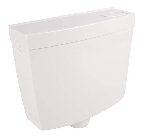 Spülkasten SW | Kunststoff | Spül-Stopp-Funktion | 6-9 Liter | Tiefspülkasten | WC, Toilette | Schwitzwasserisolierung | Weiß | Toilettenspülkasten
