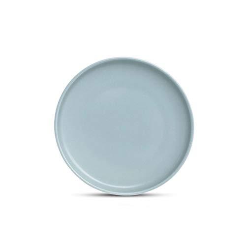 Plato De Cerámica La Vajilla De Textura Mate De Calidad para Uso Doméstico Y De Hostelería De 7.5 Pulgadas (Color : Azul)