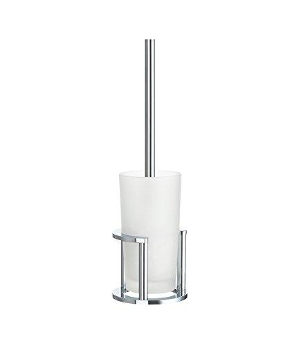 Smedbo Outline WC-Bürste, Porzellan, Silber, 43,5x 13,5x 13,5cm (Wc-bürste Smedbo Outline)
