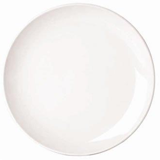 Classique White Rim Assiette plate étroite. Dimensions: 260mm (10,25 \