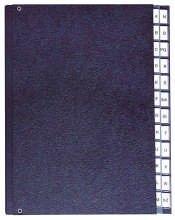 Pultordner Hartpappe A Z 24 Fächer Farbe schwarz