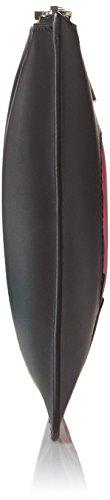 Love Moschino Jc5306, Clutch Donna, 1x17x28 cm (B x H x T) Multicolore (black/pink)
