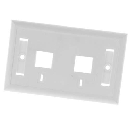 FLAMEER 120MM Wall Plate Dual Port Netzwerk 2Gang Sockelabdeckungen Mit Schrauben Dual-port-wall Plate