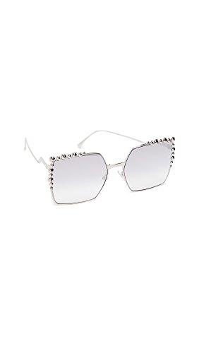 Fendi occhiali da sole can eye ff 0259/s palladium/grey shaded donna