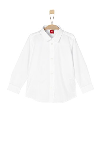s.Oliver Red Label Junior Jungen Slim: Klassisches Hemd White 140.Slim (Red Jungen Label)
