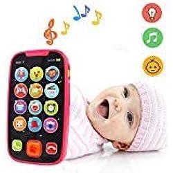 LUKAT Teléfono Bebés Smartphone Infantil, Teléfono Móvil Musical con Sonido y Música para Bebés Regalo