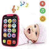 LUKAT Früherziehung Baby Telefon Baby Smartphone Spielzeug für 12 Monate Pretend Touch Phone mit Sound und Musik