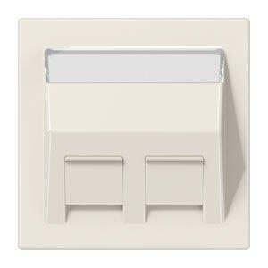 Jung ls569-30BFPL-Platte mit Steckdosenleiste Schriftzug für Adapter 30° Weiß Elfenbein -