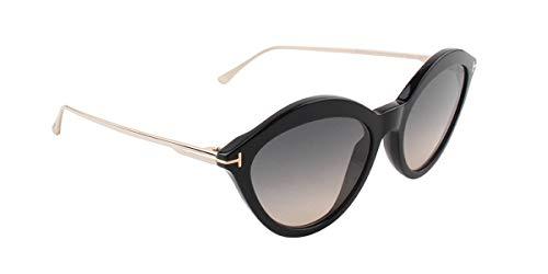 Tom ford occhiali da sole chloe ft 0663 black/grey shaded unisex