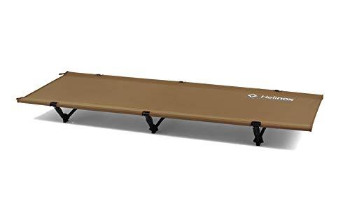 Helinox Cot One Convertible,Campingbett,Feldbett,Aluminium,leicht,stabil,faltbar,3 Beine,inkl Tragetasche,Coyote tan,one Size