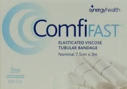 COMFIFAST ELASTICATED VISCOSE TUBULAR BANDAGE BLUE LINES 7.5CMX5M (FOR LARGE LIMBS) - 7.5CMX5M Test