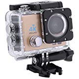 Action-Kameras, 4K DVR Portable 2,0 Zoll LCD 720P Wasserdichte Sportkameras mit Kleinen Box_Golden -