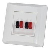 Dynavox Lautsprecher LS Wand Anschlußterminal II Unterputzmontage Anschluß Terminal Blende Boxen UP weiß 4
