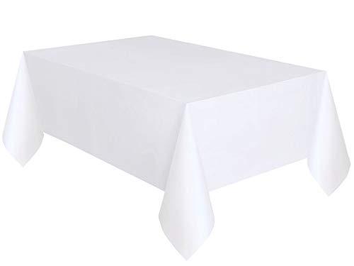 GUOYIHUA 100ft Einweg Geburtstag Tischdecke Party Bankett Tisch Rolle Kunststoff Wasserdicht Abwischen Saubere Tischdecke (White)