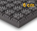 Königspyramide, 56x56x6cm, Anthrazit Schwarz