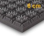 Königspyramide, 56x56x6cm, Anthrazit Schwarz, FSE (flammhemmend nach MVSS302)