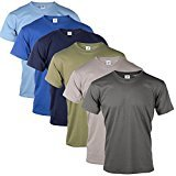 Blu Cherry 3 Or 6 Pack Mens Plain 100% Premium Cotton Blank Basic T Shirt Top Assorted Multi Pack- Casual Relaxed Regular Fit