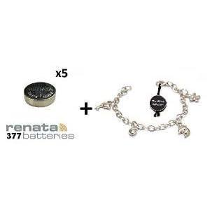 5x Renata 377 SR626SW 1,55 V Silberoxyd Uhrenbatterie + GRATIS GESCHENK TOC CHARM ARMBAND