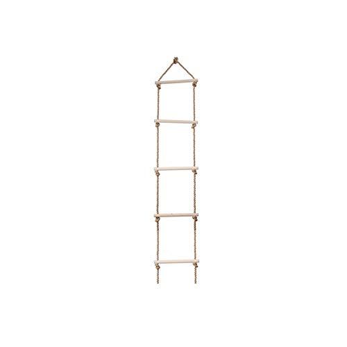 5 Stufen aus Holz Kletterseil Leiter Spielplatz Klettern Holzstrickleiter Baum Ladder-Spielzeug für Kinder Abenteuerspiele Holz Farbe