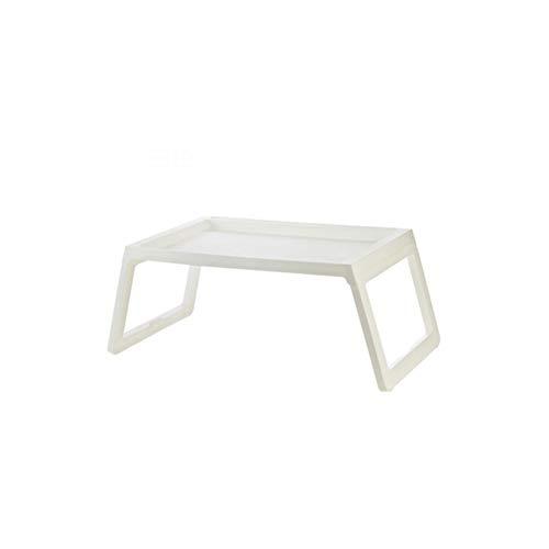 Rart Faltbare Laptop Tisch, Frühstück Tisch Tragbare Notebook-Computer-Schreibtisch Laptop Bett Tisch-geeignet für Bett,Sofa,Schreibtisch,Fußmatten,Wiese-Weiß 68x35.8x27.5cm(27x14x11inch) -