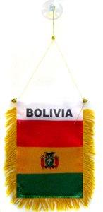 AZ FLAG Fanion Bolivie 15x10cm - Mini Drapeau bolivien 10 x 15 cm spécial Voiture - Bannière