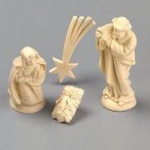 efco Figuras de belén en miniatura 40mm, 4piezas, marfil