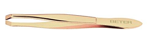 Beter 34062 - pinzette, punta granchio, dorato, 9,3 cm