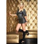 Leg Avenue Gunmetal shimmer slinky mini dress S/M, 1 Stück - Glitter Slinky