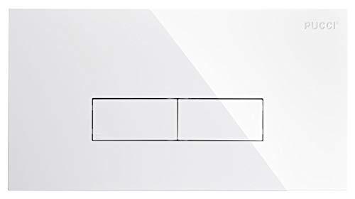 9560 Nuova Placca Bianca Pucci ECO 33x18 spessore 12 con telaio porta placca