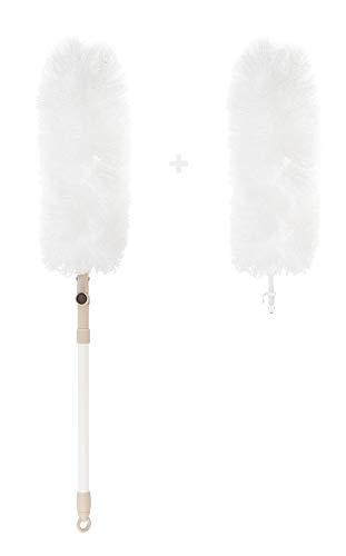 KREHMANN Staubwedel I waschbar und ausziehbar 100cm I antistatische Mikrofasern, extra Langer Duster für alle Oberflächen