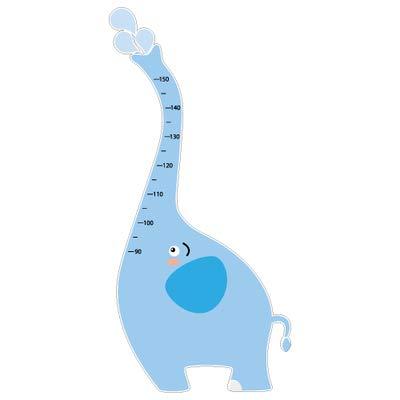 Sticker Toise - Éléphant - Aspect Brillant - Adhesif Permanent