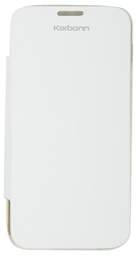 iCandy White Synthetic Leather Flip Cover For Karbonn Titanium S2  available at amazon for Rs.99