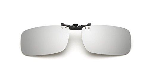 UK1stChoice-Zone Polarisierte Unisex Sonnenbrillen Klipp auf Sonnenbrille Gläsern Brille Sun-ClipON1302 (Weiß Quecksilber) (Nur geeignet für die Gläser mit Brücke Dicke weniger als 2,5 mm)