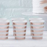 Hello World - Mint & Rose Gold Paper Cups