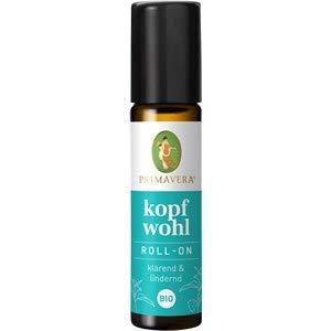 PRIMAVERA Kopfwohl Aroma Roll-On bio 10 ml - Pfefferminze - Aromatherapie für Unterwegs - klärend, lindernd bei Kopfschmerzen - vegan -